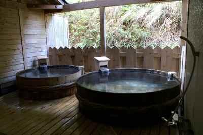 レシーア南知多の樽露天風呂