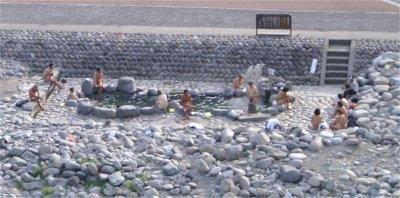 下呂温泉の露天風呂