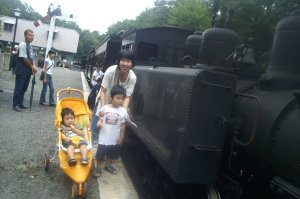明治村の蒸気機関車