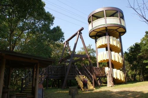武豊町自然公園の展望台。