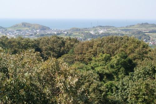 武豊町自然公園展望台からの伊勢湾の眺め