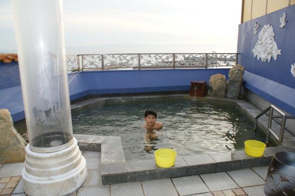 山海館の露天風呂
