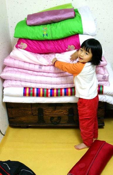 韓国の寝具