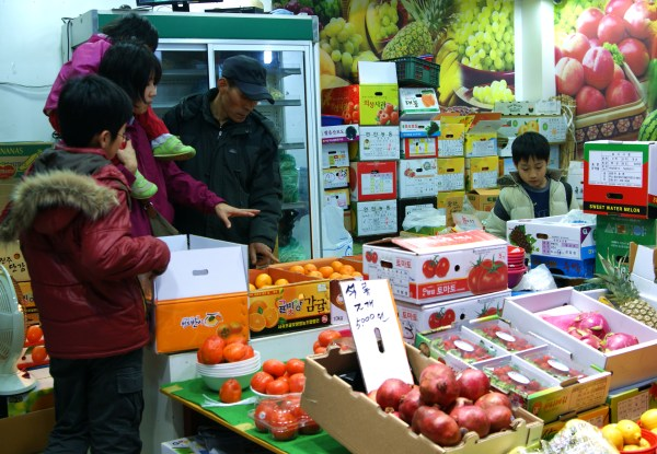 ソウルの果物屋さん