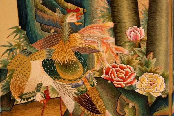 韓国刺繍の鳳凰