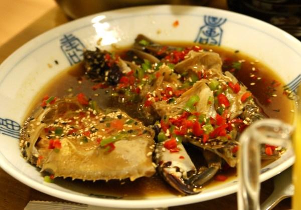韓国のカニ料理